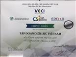"""EVN được công nhận """"Doanh nghiệp bền vững tại Việt Nam năm 2018"""""""